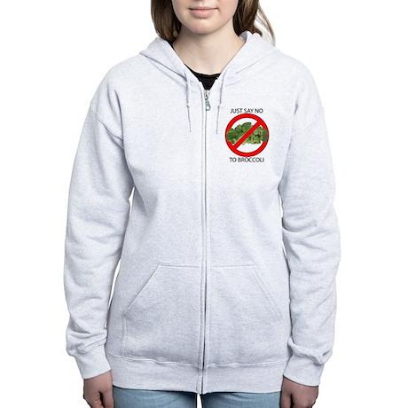 Just Say No to Broccoli Women's Zip Hoodie