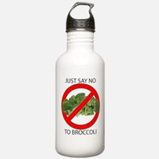 Just Say No to Broccoli Sports Water Bottle