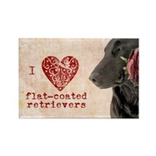Flat-coated Retriever Valentine Magnet