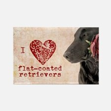 Flat-coated Retriever Valentine Magnet
