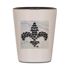 Fleur de lace Fleur de lis Shot Glass