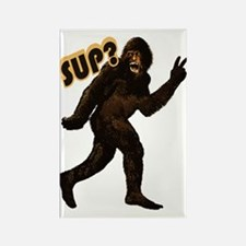 Bigfoot Sasquatch Yetti sup Rectangle Magnet