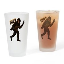 Bigfoot Sasquatch Yetti sup Drinking Glass