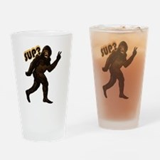 Bigfoot Sasquatch Yetti sup Drinking Glass