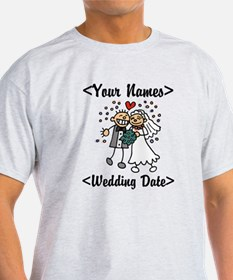 Just Married (Add Names & Wedding Date) T-Shirt
