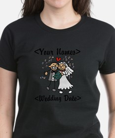 Just Married (Add Names & Wedding Date) Tee