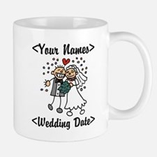 Just Married (Add Names & Wedding Date) Small Small Mug