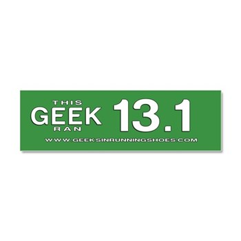 Geeks in Running Shoes 13.1 Car Magnet
