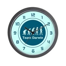 Team Darwin (Teal) Wall Clock