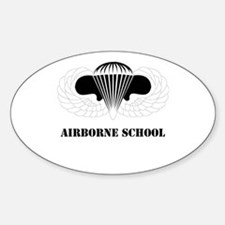 DUI - Airborne School with Text Sticker (Oval)