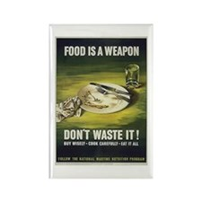 Food is a Weapon Rectangle Magnet