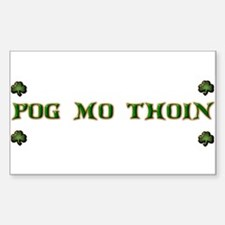 Cute Pog Sticker (Rectangle)