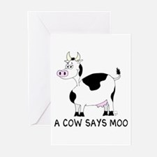 A Cow Says Moo Greeting Cards (Pk of 10)