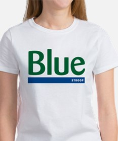 Blue Stroop Women's T-Shirt
