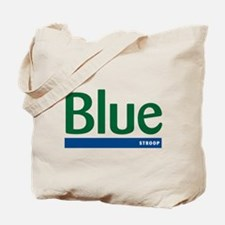 Blue Stroop Tote Bag