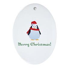 Christmas penguin Ornament (Oval)