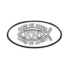 King of Kings Ichthus Patches