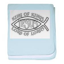 King of Kings Ichthus baby blanket