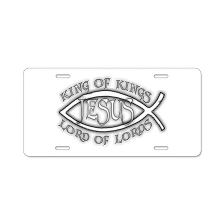 King of Kings Ichthus Aluminum License Plate
