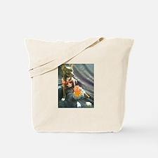 Cute Dog camping Tote Bag