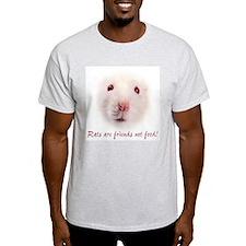 """White Rat"" Ash Grey T-Shirt"