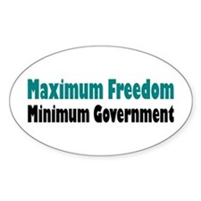 Maximum Freedom Oval Decal