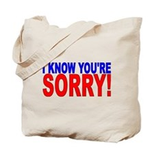 Unique Apologize Tote Bag