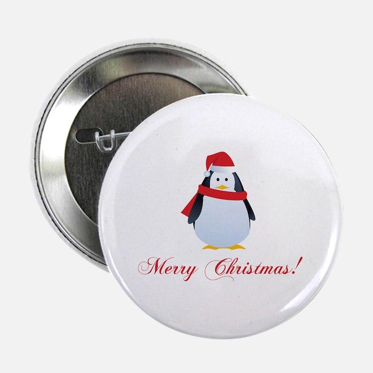 "Christmas penguin 2.25"" Button (10 pack)"