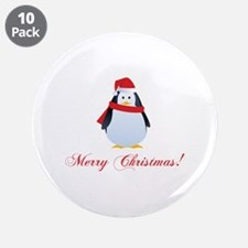 "Christmas penguin 3.5"" Button (10 pack)"