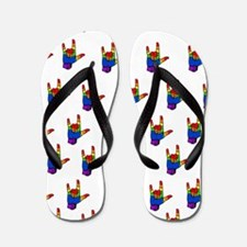Unique Sign language Flip Flops