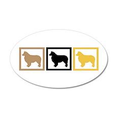 Australian Shepherd Dog 22x14 Oval Wall Peel