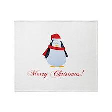 Christmas penguin Throw Blanket