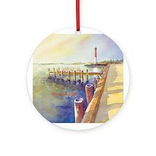 Barnegat Lighthouse Ornament (Round)
