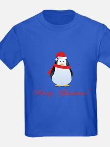 Christmas penguin T