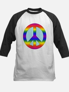Rainbow Peace Sign Gear Tee