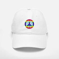 Rainbow Peace Sign Gear Baseball Baseball Cap