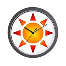 Sunburst Gear Wall Clock