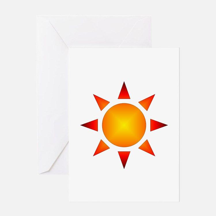 Sunburst Gear Greeting Card