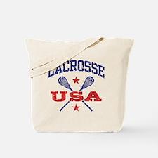 Lacrosse USA Tote Bag