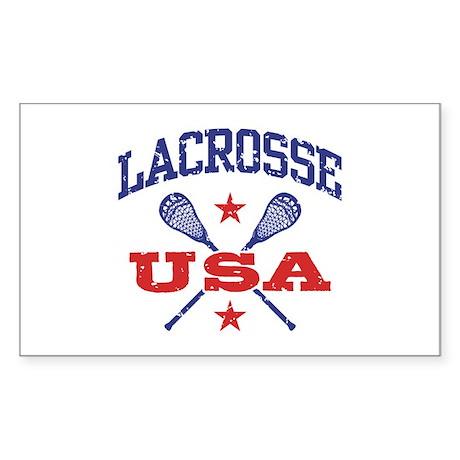 Lacrosse USA Sticker (Rectangle)