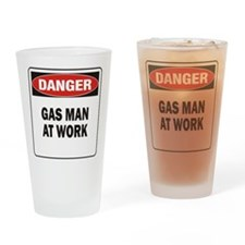 Gas Man Drinking Glass