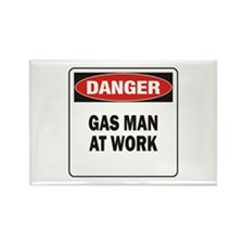 Gas Man Rectangle Magnet