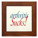 Arthritis Sucks! Framed Tile