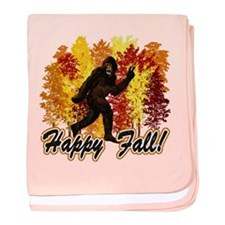 Fall Bigfoot Sasquatch Yetti baby blanket