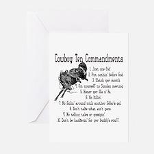 Cowboy Ten Commandments Greeting Cards (Pk of 20)