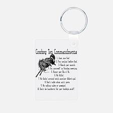 Cowboy Ten Commandments Keychains