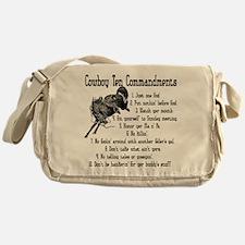 Cowboy Ten Commandments Messenger Bag