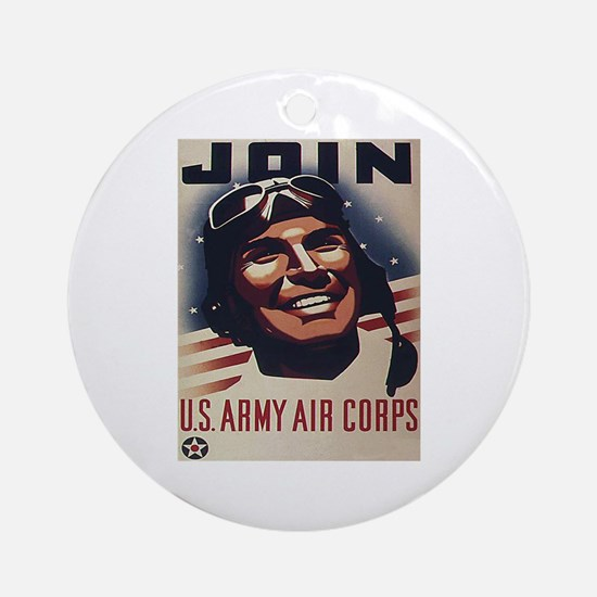 Join U.S. Army Air Corps Ornament (Round)