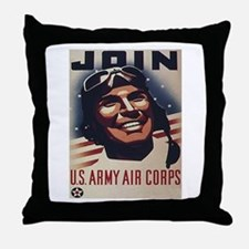 Join U.S. Army Air Corps Throw Pillow