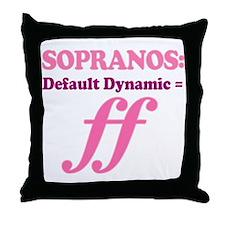Soprano Music Attitude Throw Pillow